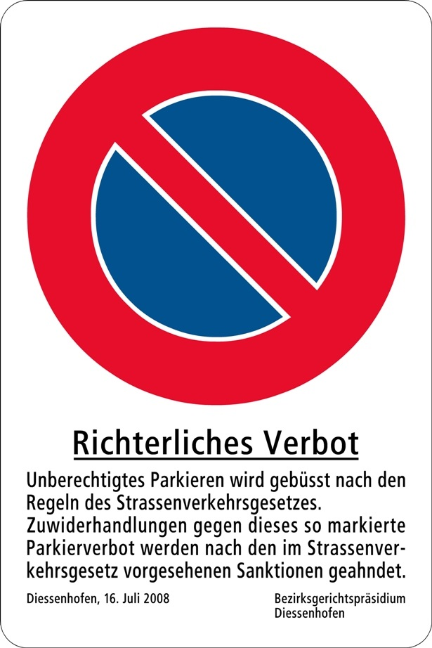 Richterliches Verbot